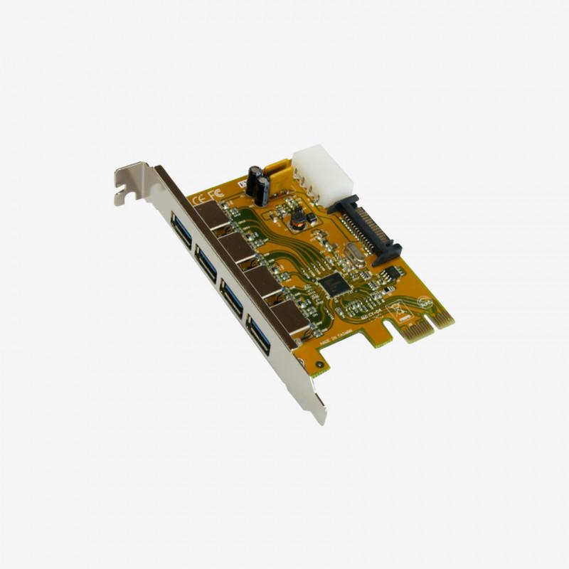 USB 3.0 PCI-Express カード、4 ポート (EX-11094)