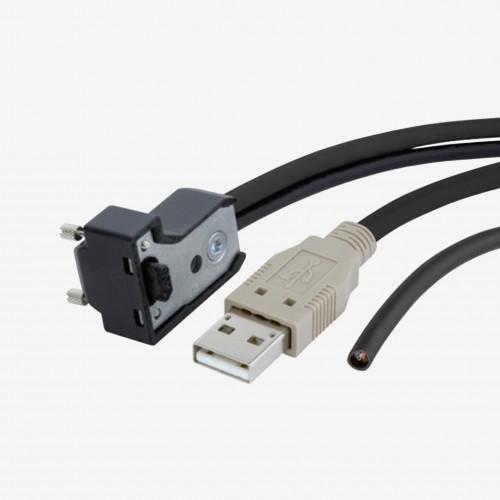 USB 2.0 並びに I/O、標準Yケーブル、下向き、ねじ込み式、3 m
